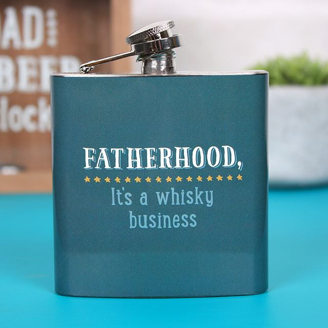 Wholesale Fatherhood is a Whisky Business Hip Flask