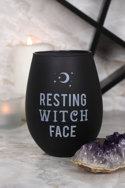 Wholesale Resting Witch Face Stemless Wine Glass