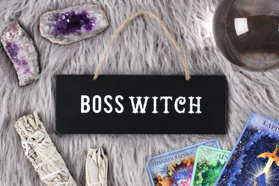 Wholesale Boss Witch Hanging Sign