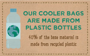 Our Cooler Bags are Made from Recycled Plastic
