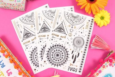 Wholesale festival temporary tattoos