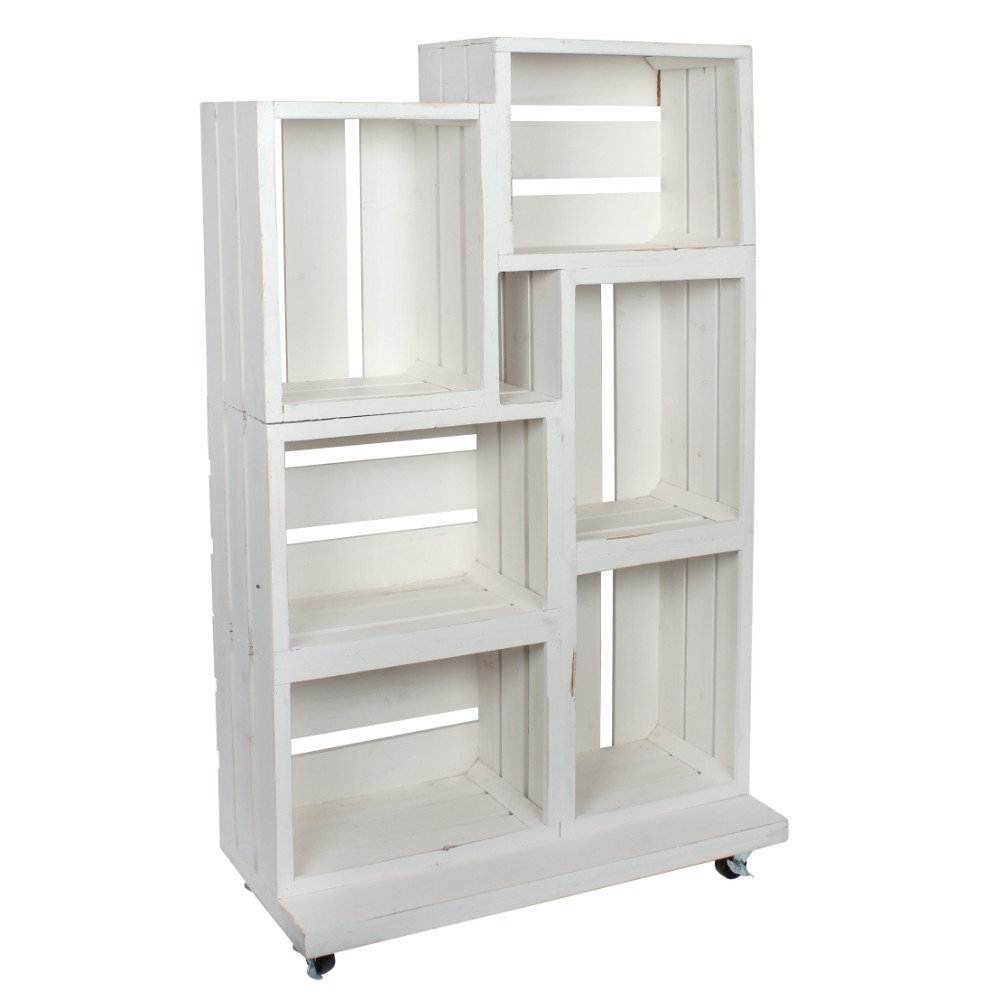 White Shabby Wooden Crate Retail Display