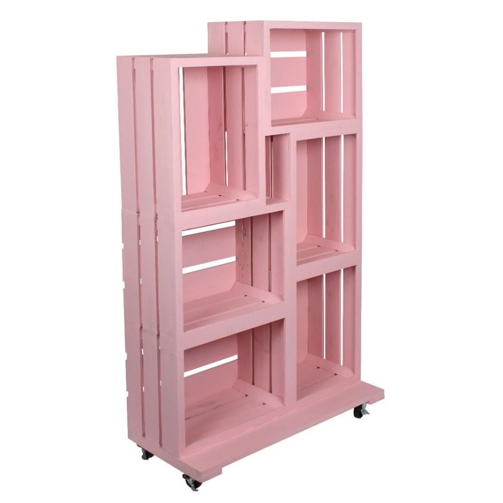 Pink Wooden Crate Retail Display