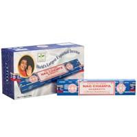 12 pakker Nagchampa røgelsespinde fra Satya