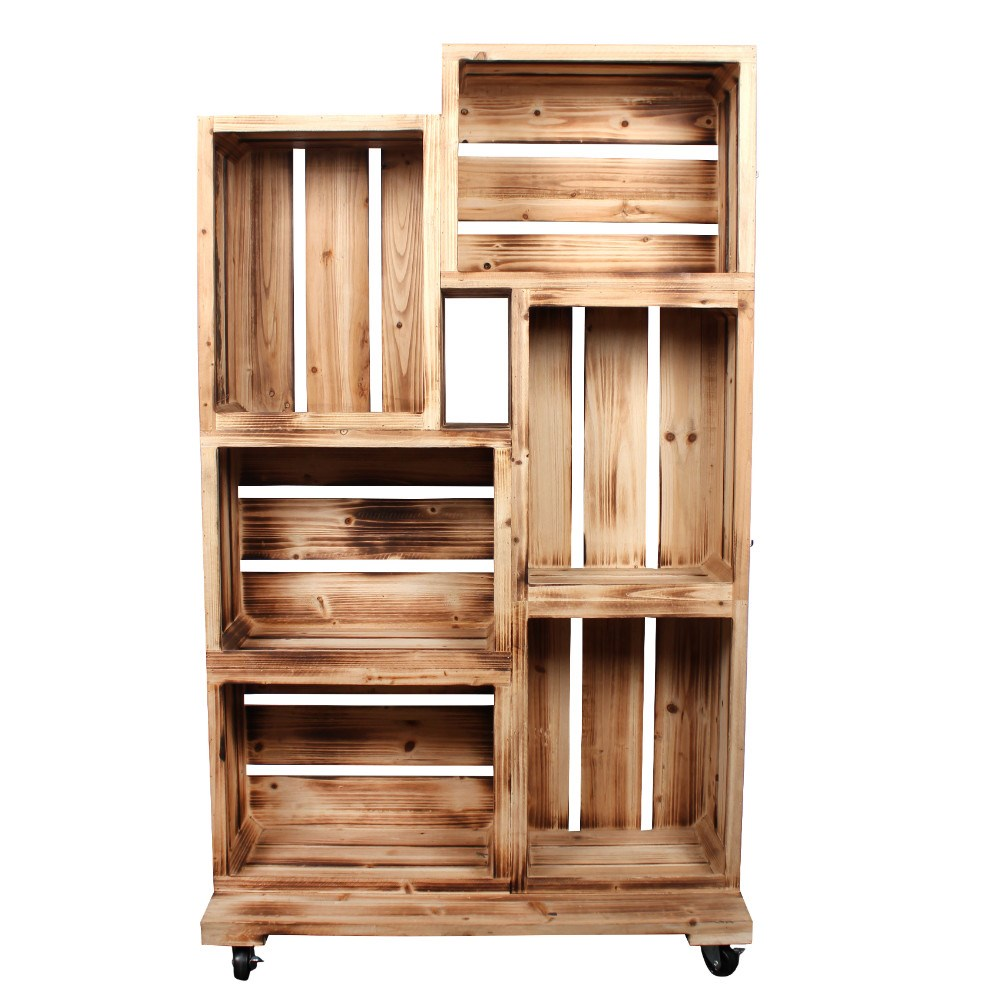 Wooden Crate Retail Display