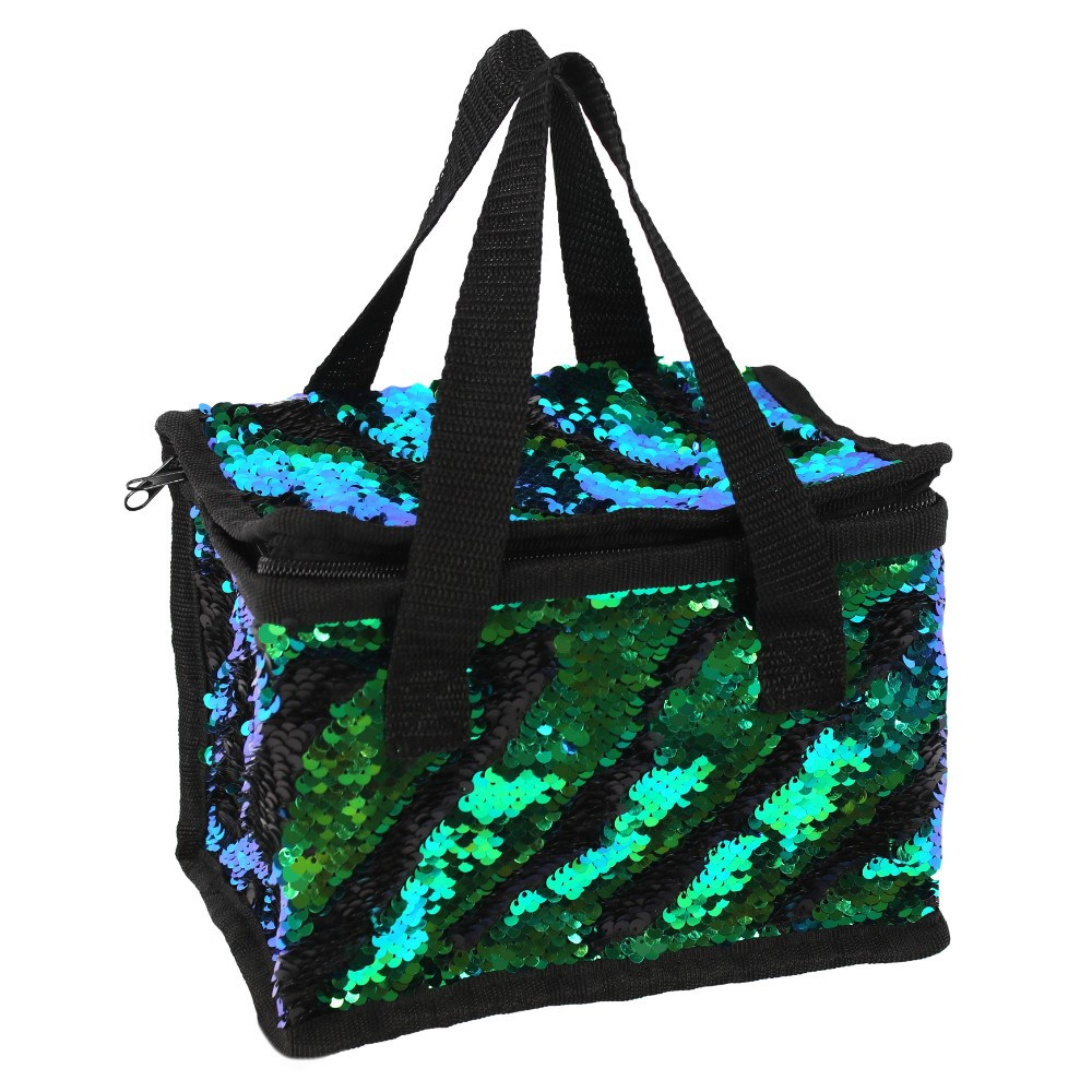 c776dfe2a2bd Matte Black And Green Reversible Lunch Bag