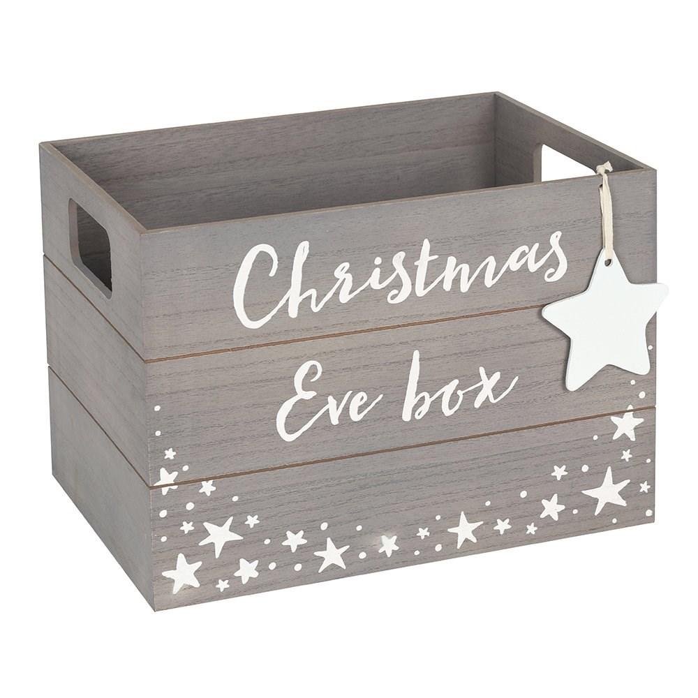 Christmas Crate Box.24 X 34cm Grey Christmas Eve Box